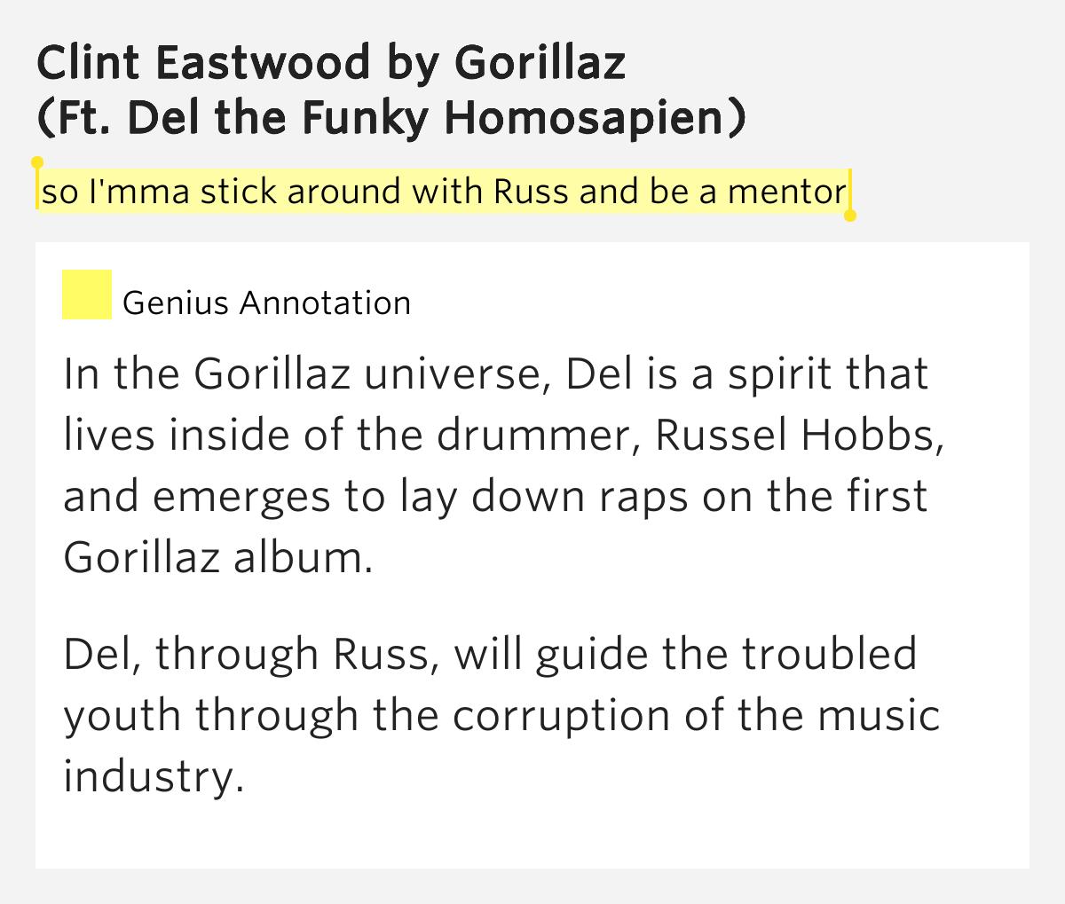 Gorillaz Clint Eastwoo...