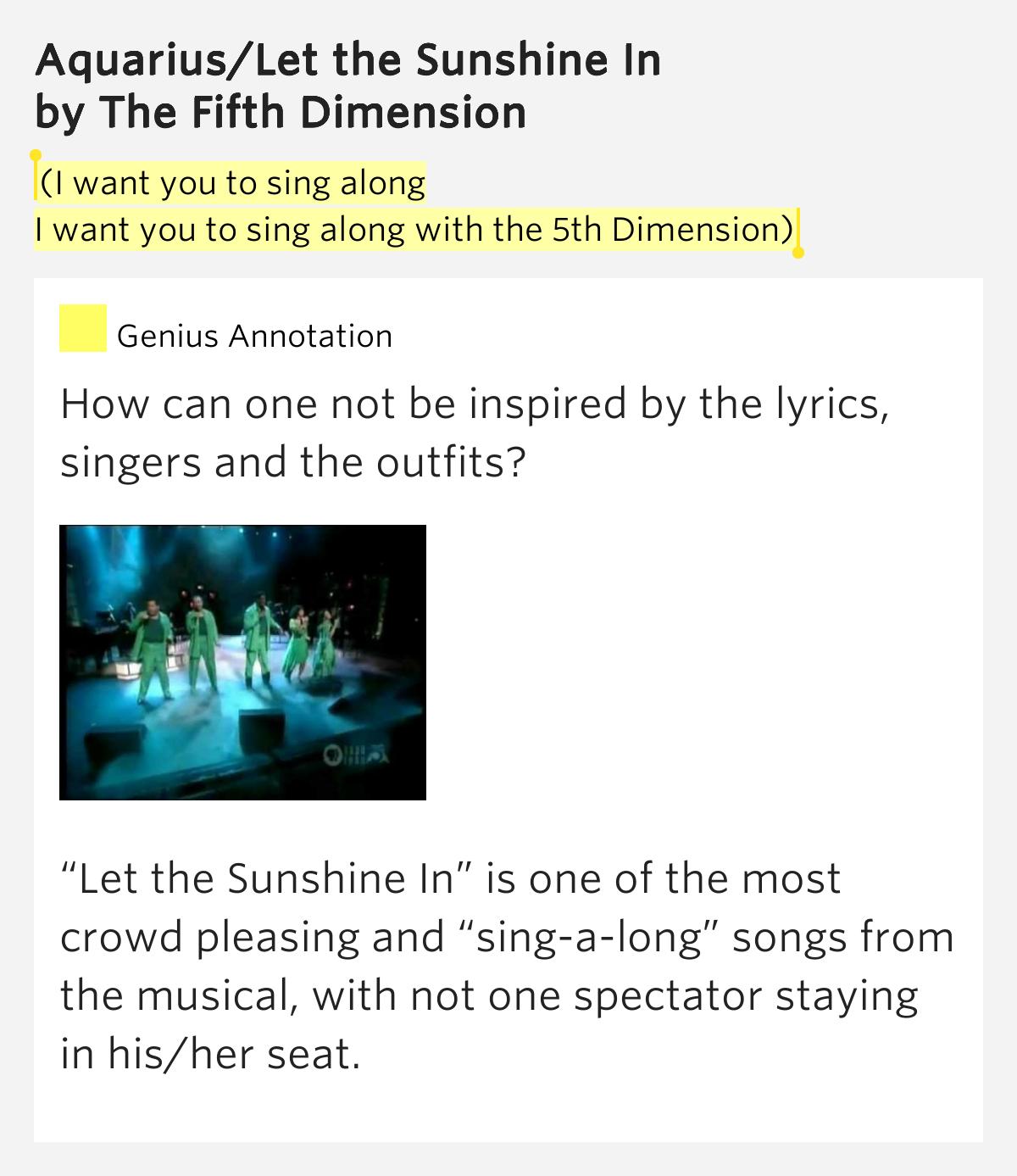 Aquarius/Let the Sunshine In Lyrics