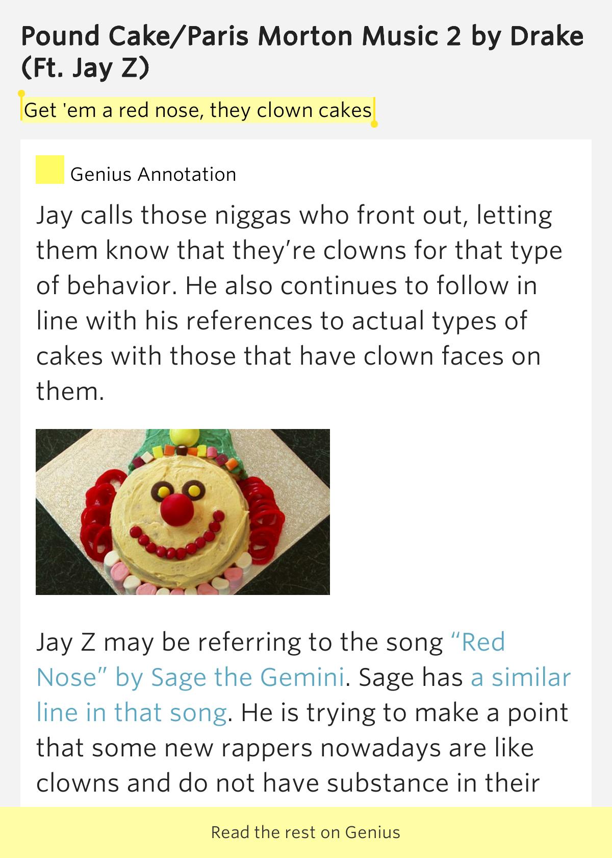 Jay Z Pound Cake Meaning
