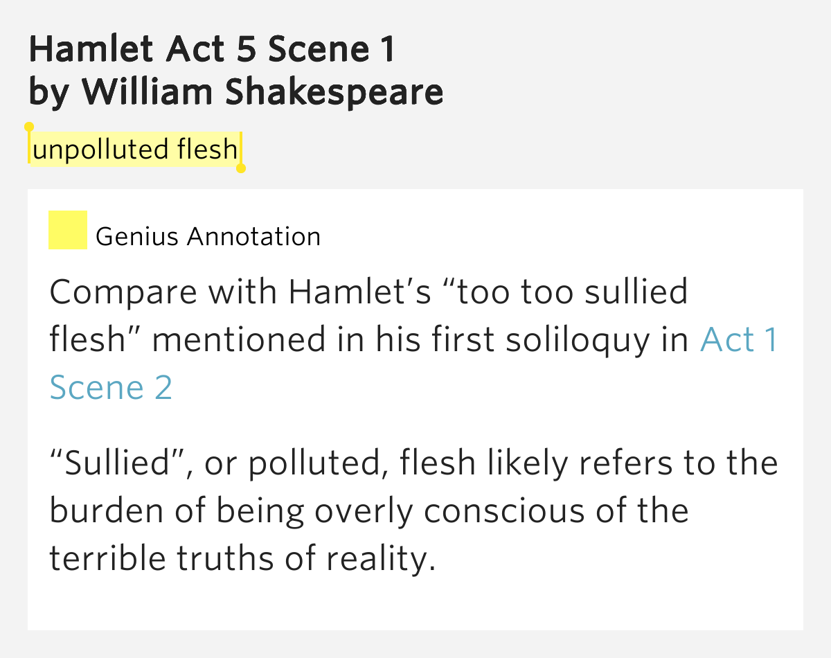 hamlet act one essay Home → sparknotes → shakespeare study guides → hamlet → study questions hamlet for morality and indecisive inability to act is a problematic one in.
