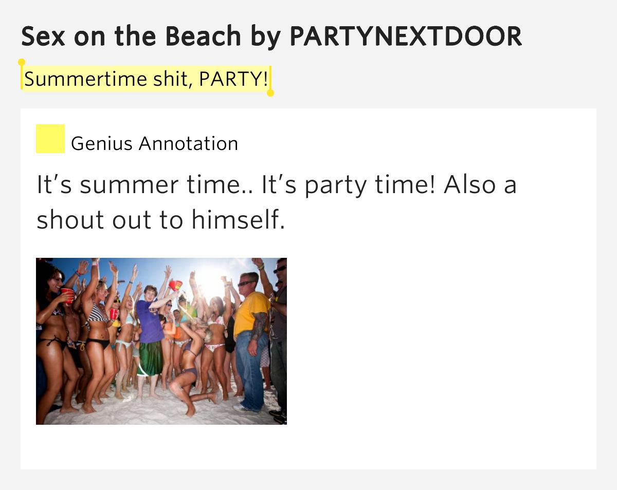 lyrics for sex on the beach