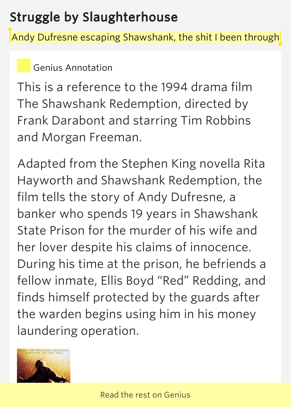 Rita Hayworth and the Shawshank Redemption