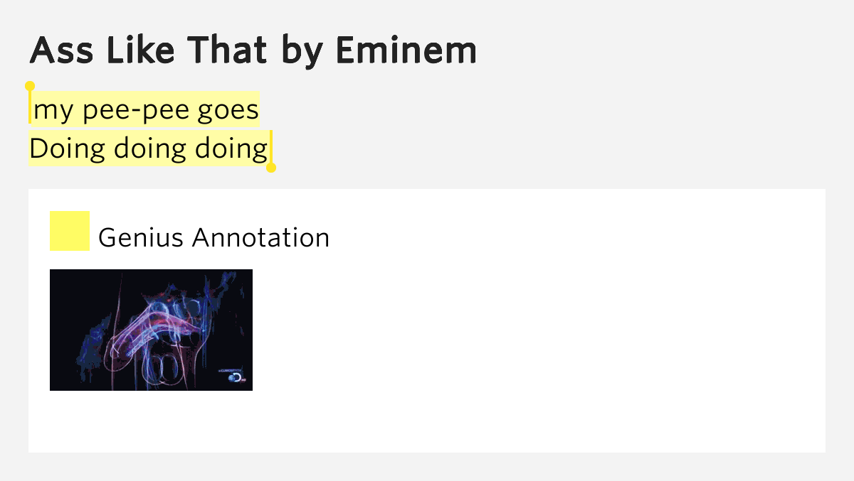 eminem lyrics ass like