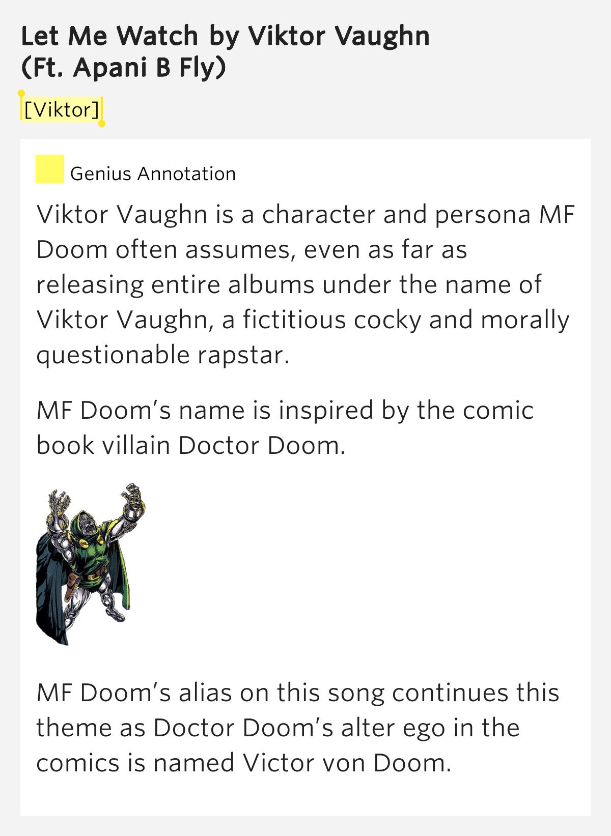 [Viktor] – Let Me Watch by Viktor Vaughn