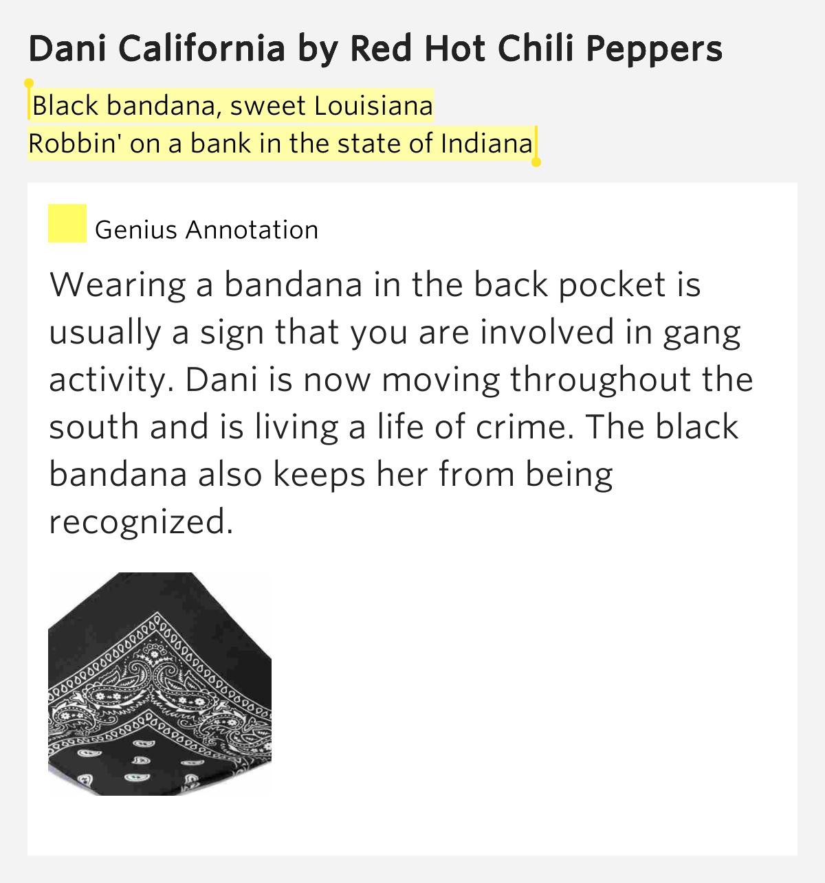 Black bandana, sweet Louisiana / Robbin' on a.. – Dani ...