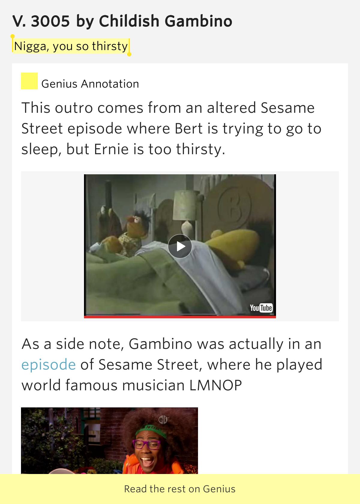 childish gambino lyrics 3005 - photo #28