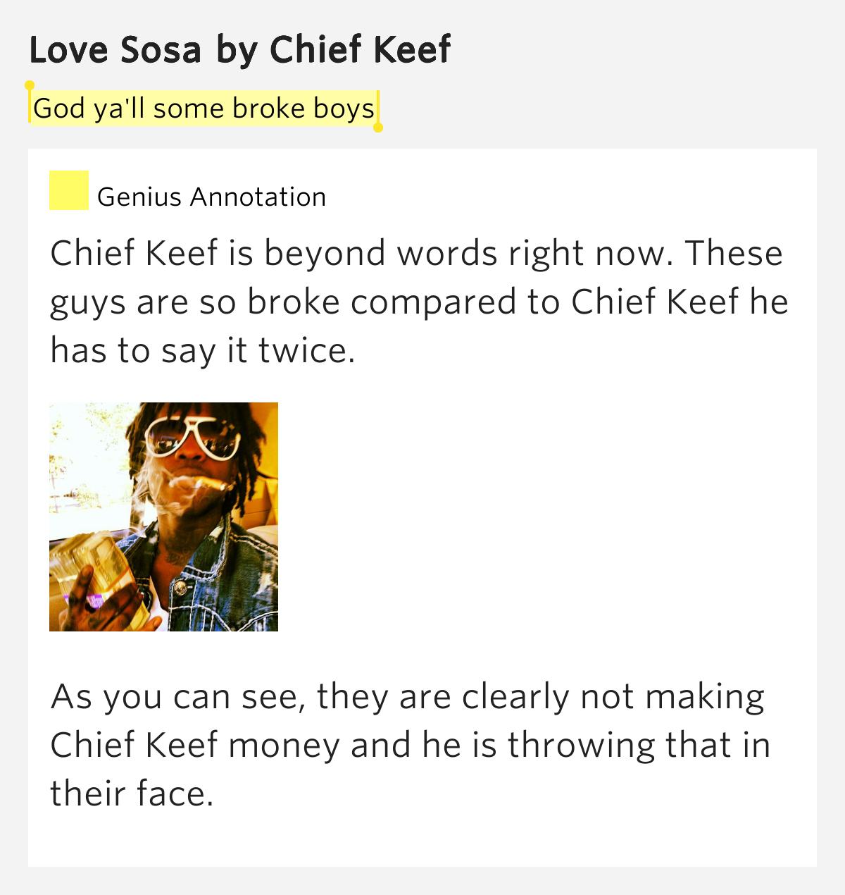 Chief Keef Love Sosa: God Ya'll Some Broke Boys