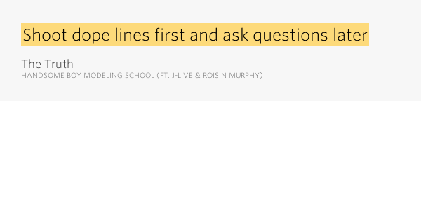 Shoot dope lines first and ask questions later – The Truth