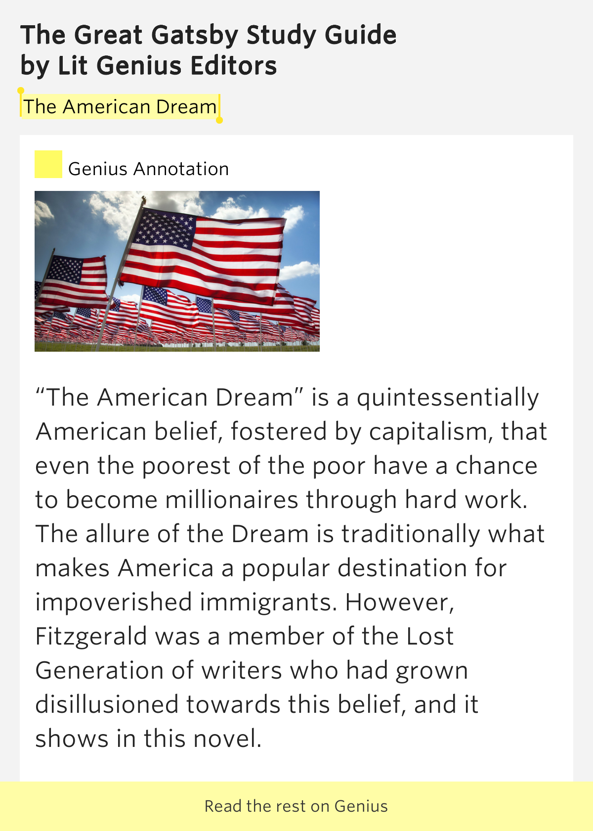 The True Meaning of The American Dream