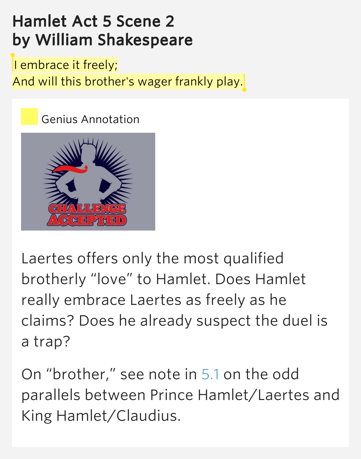 contrasting between laertes and hamlet in the play hamlet Home hamlet q & a what what contrasts are brought out between the characters of hamlet and laertes the largest contrast between these two characters can.