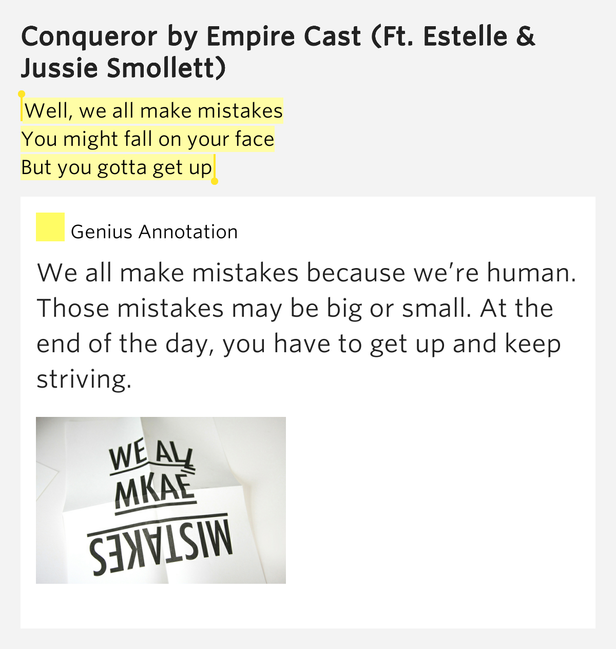 Well we all make mistakes you might fall on your conqueror - Seven mistakes we make when using towels ...