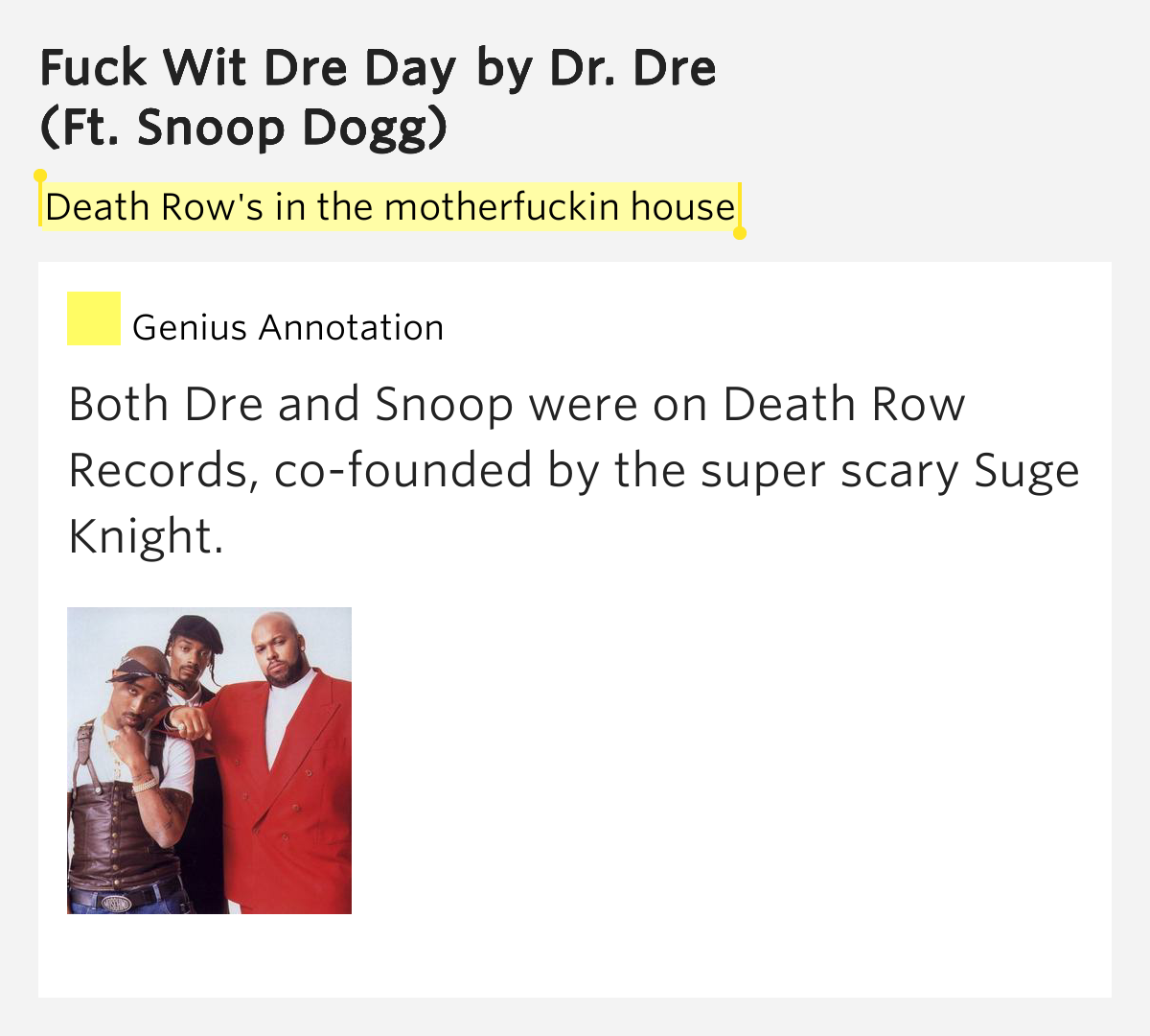 Fuck wit dre day lyric