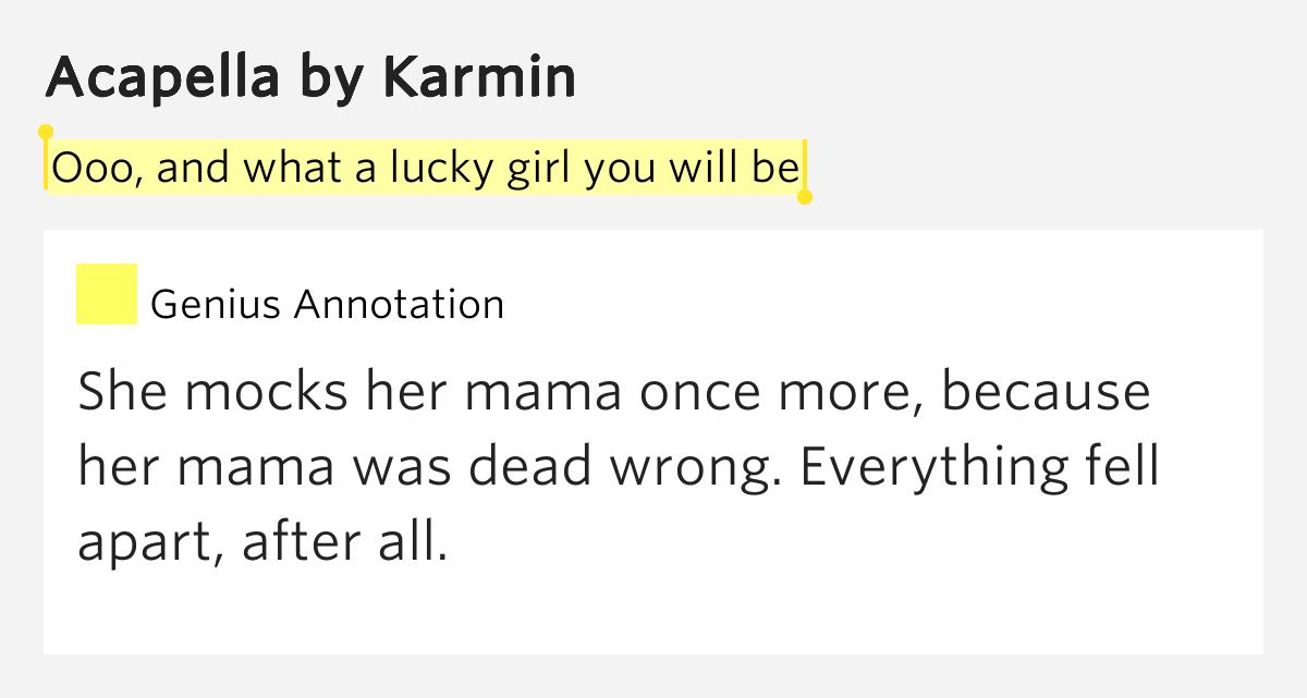 Karmin – Acapella Lyrics | Genius Lyrics