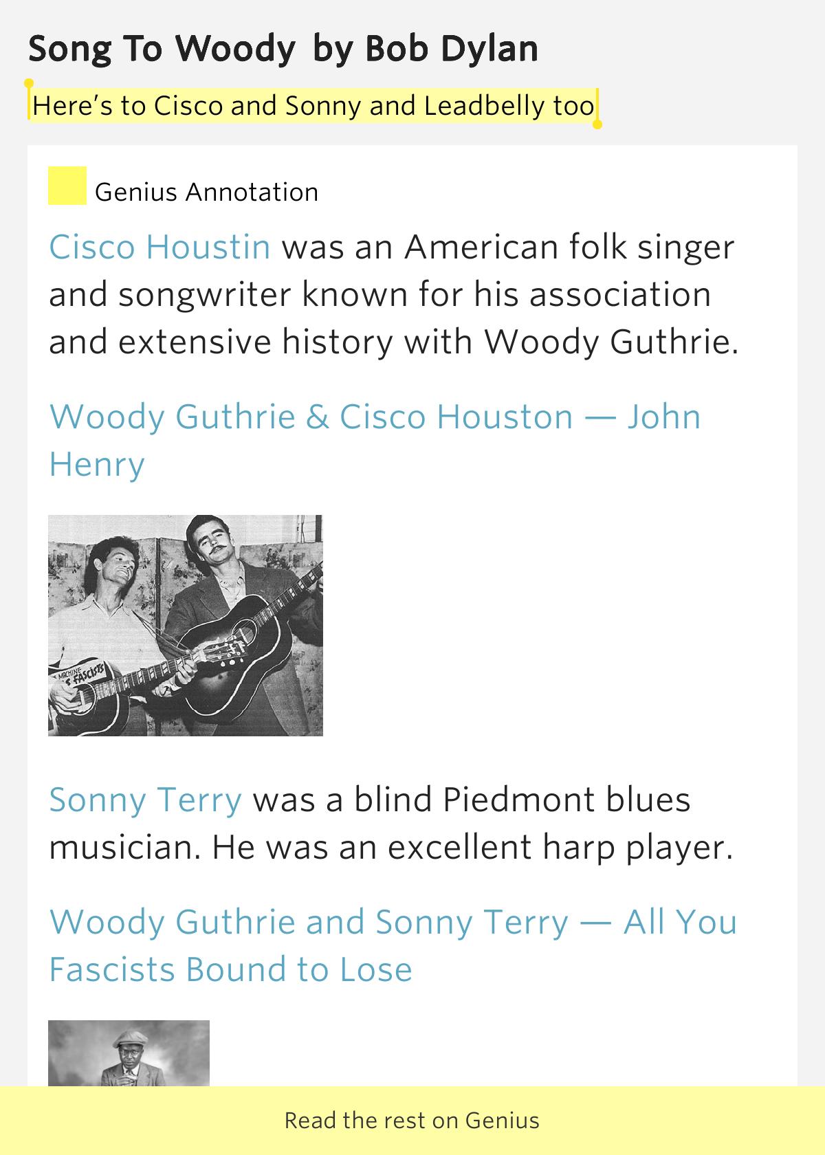 Woody Guthrie Lyrics
