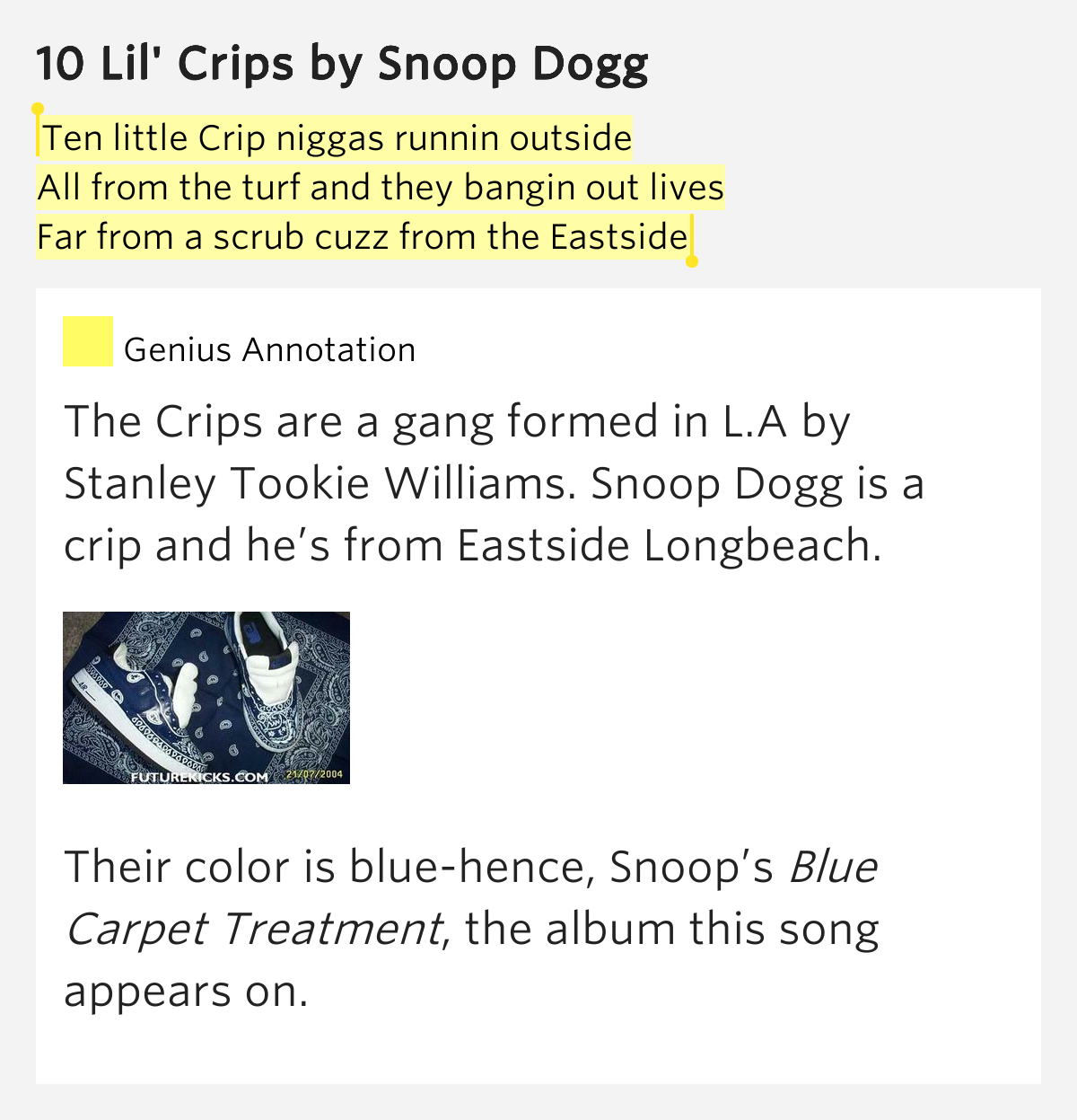 Snoop Dogg - 10 Lil' Crips Lyrics | MetroLyrics