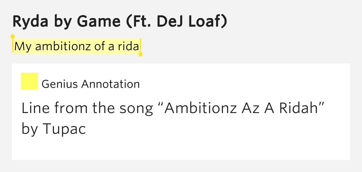 Ambitionz Az a Ridah Lyrics