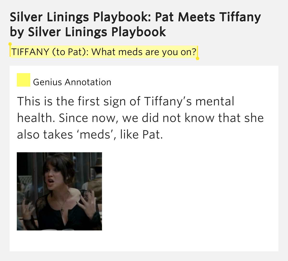 silver linings playbook pat and tiffany relationship advice