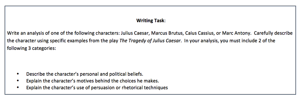 essay questions for the tragedy of julius caesar