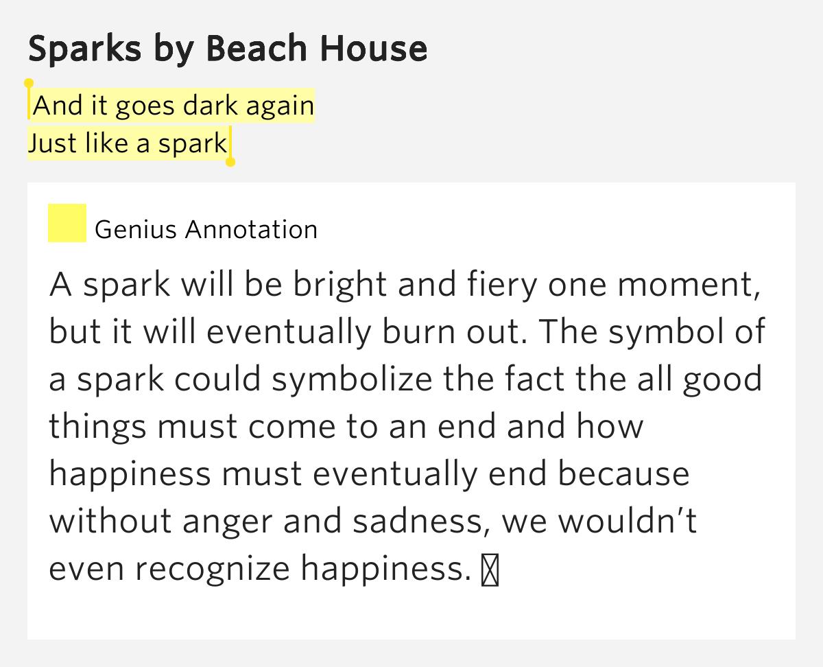 Beach House Sparks Lyrics