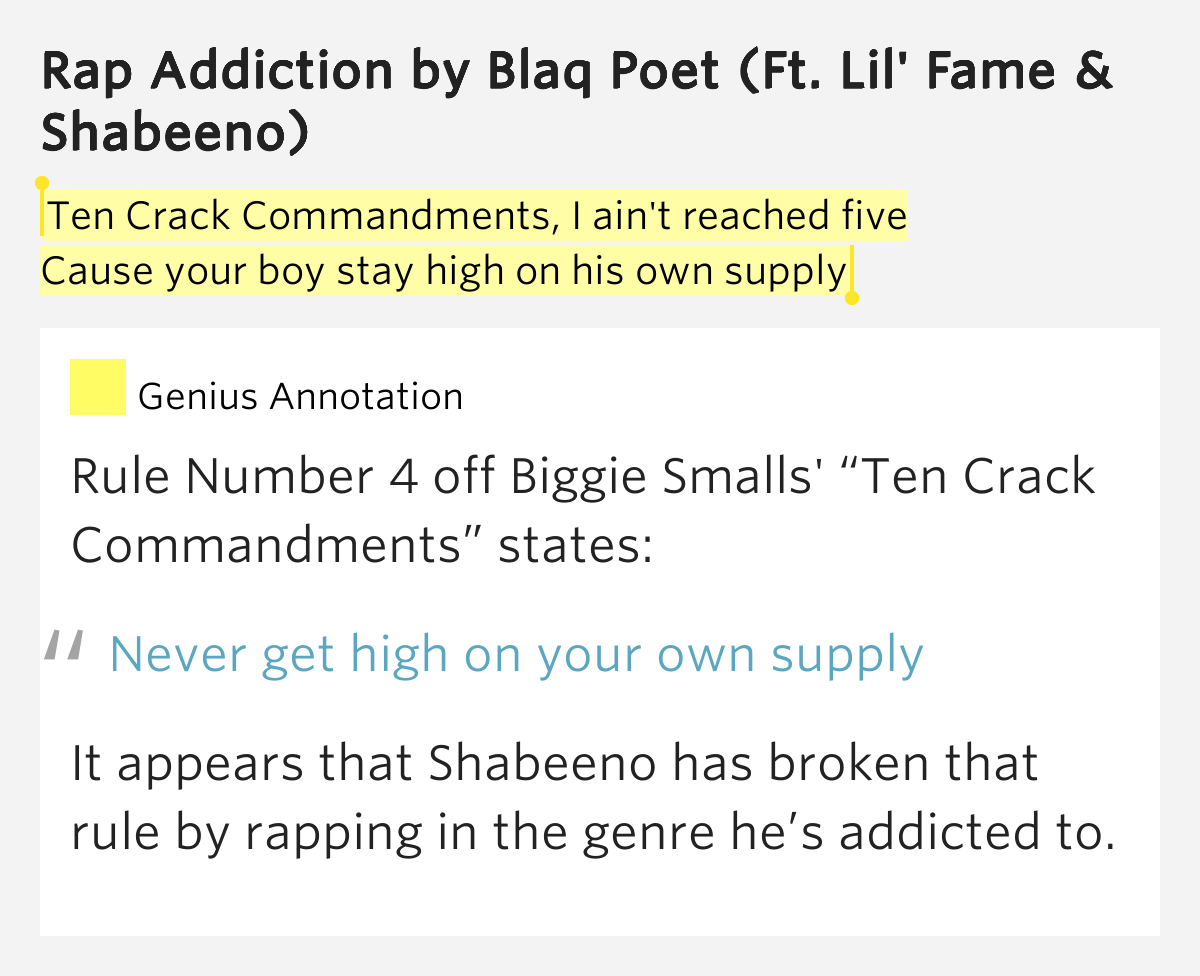 biggie smalls 10 crack commandments lyrics
