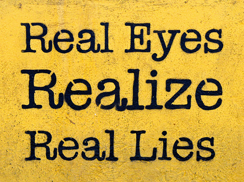 "Real Eyes Realize Real Lies Quote I'm a ""real"" Person With"