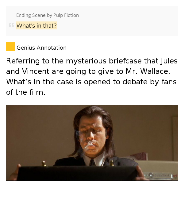 pulp fiction a sociological debate Much debate centers around the contents of the briefcase in quentin tarantino's  1994 film pulp fiction a theory that has been passed around via e-mail and is.