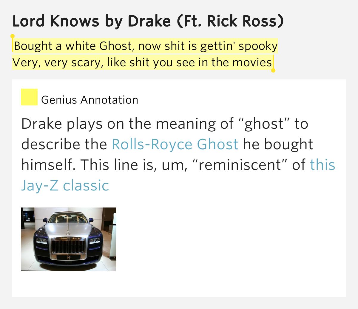 DRAKE FEAT. RICK ROSS - LORD KNOWS LYRICS