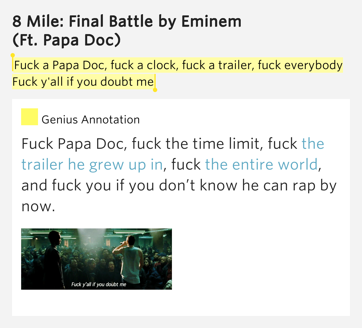And too fuck all y all lyrics magnificent