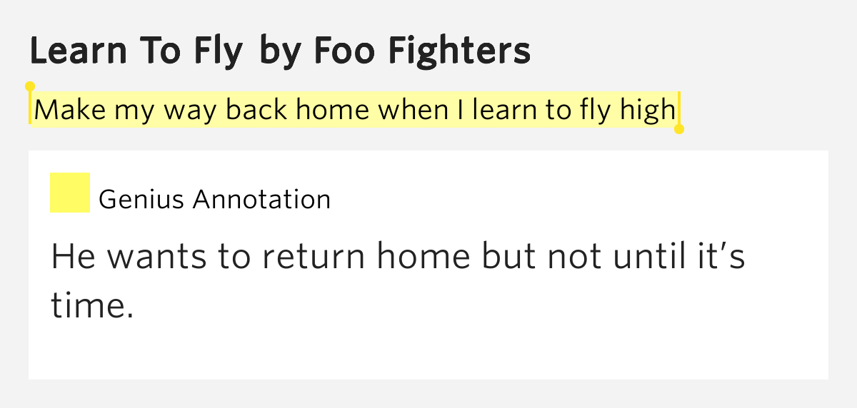 learning how to fly track list