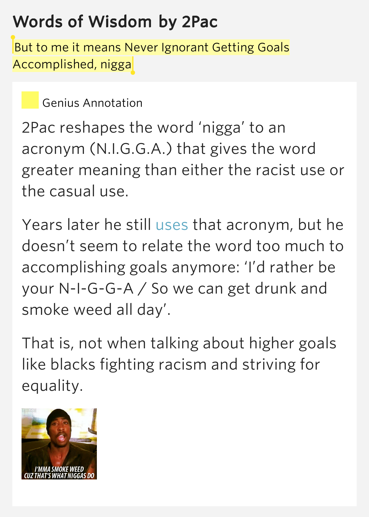 """meaning of the word nigger She explains in extraordinary detail how damaging the slur """"nigger"""" has always  been,  and then camerota joked about the origin of the word."""