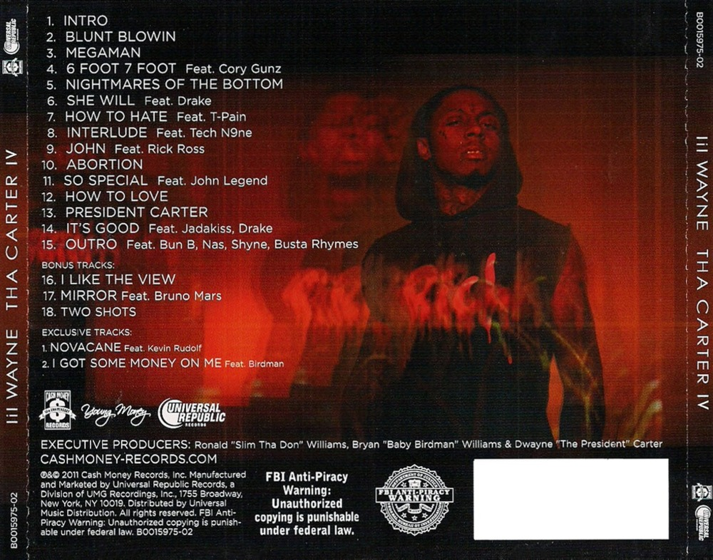 the gallery for gt lil wayne the carter 5 tracklist