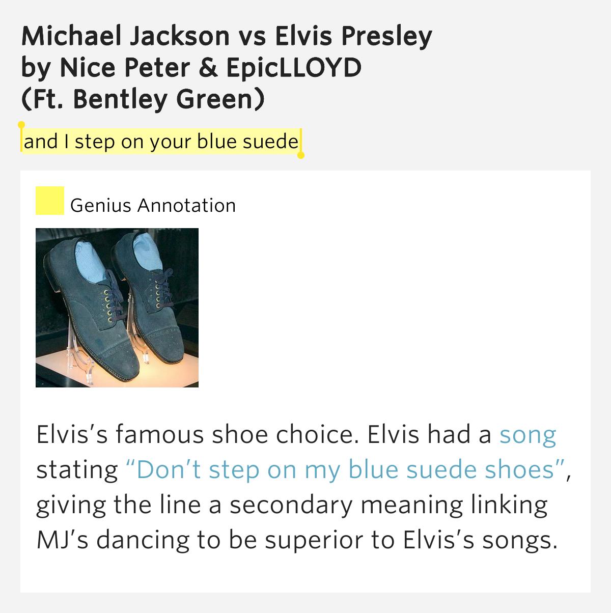 Elvis Presley Blue Suede Shoes Lyrics Meaning
