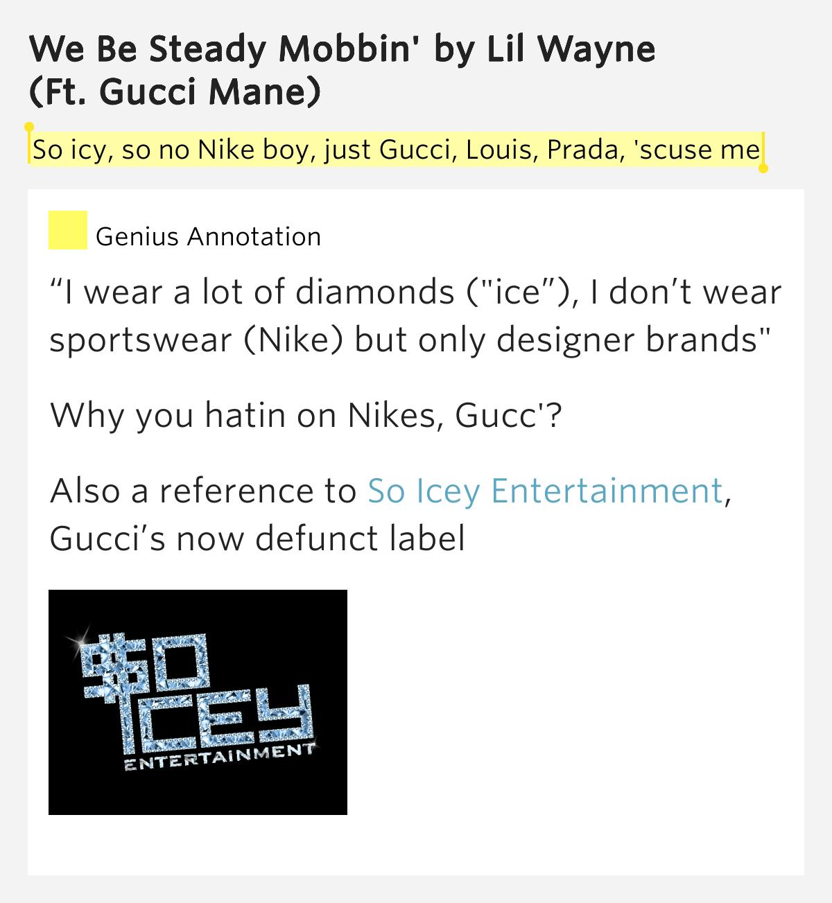 Lil wayne ft gucci- We be steady mobbin (on screen lyrics ...