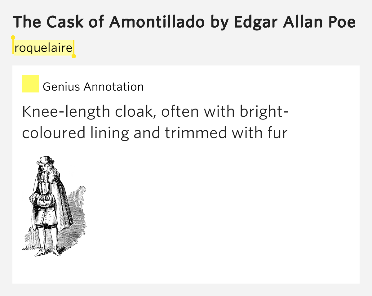 irony and symbolism in the cask of amontillado by edgar allan poe This video explores edgar allan poe's 'the cask of amontillado,' a dark romantic short story that illustrates the horrors of evil by breaking.