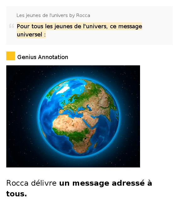 Rocca - Les Jeunes De L'Univers