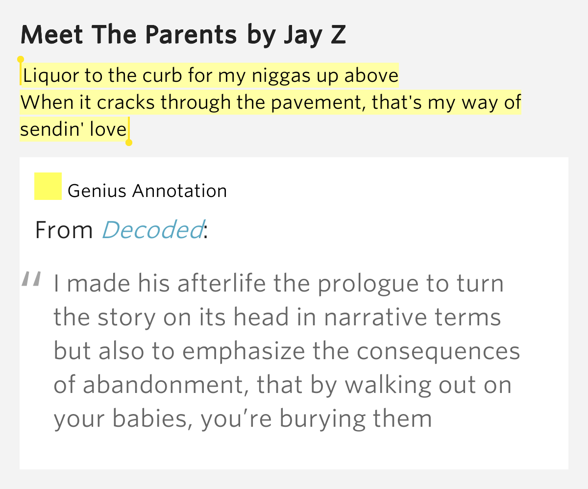 jay meet the parents meaning