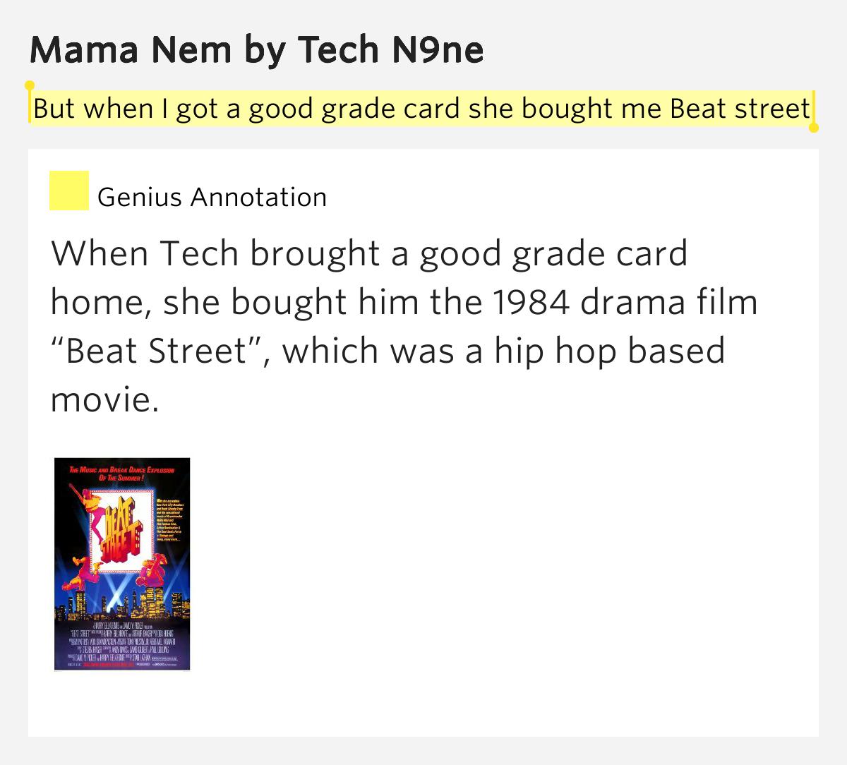 to tech beat n9ne Sex the lyrics