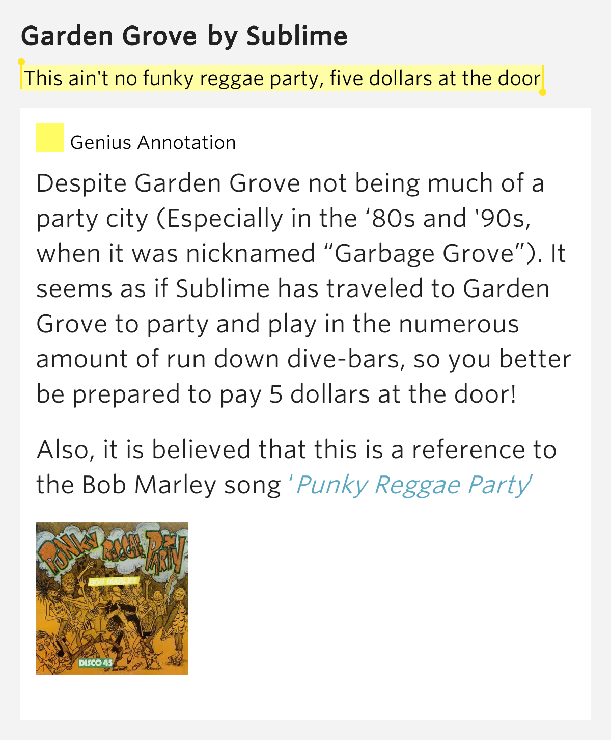 This Ain 39 T No Funky Reggae Party Five Dollars At