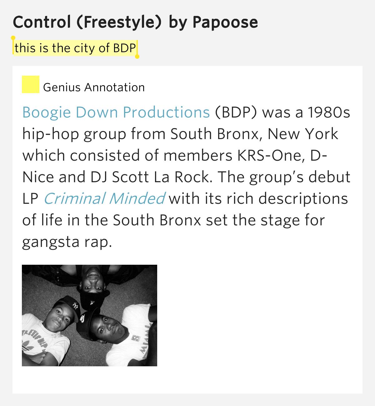DJ Scott La Rock D Nice KRS One South Bronx The P Is Free