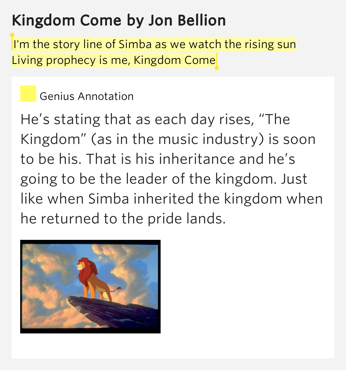 We The Kingdom: I'm The Story Line Of Simba As We Watch The Rising