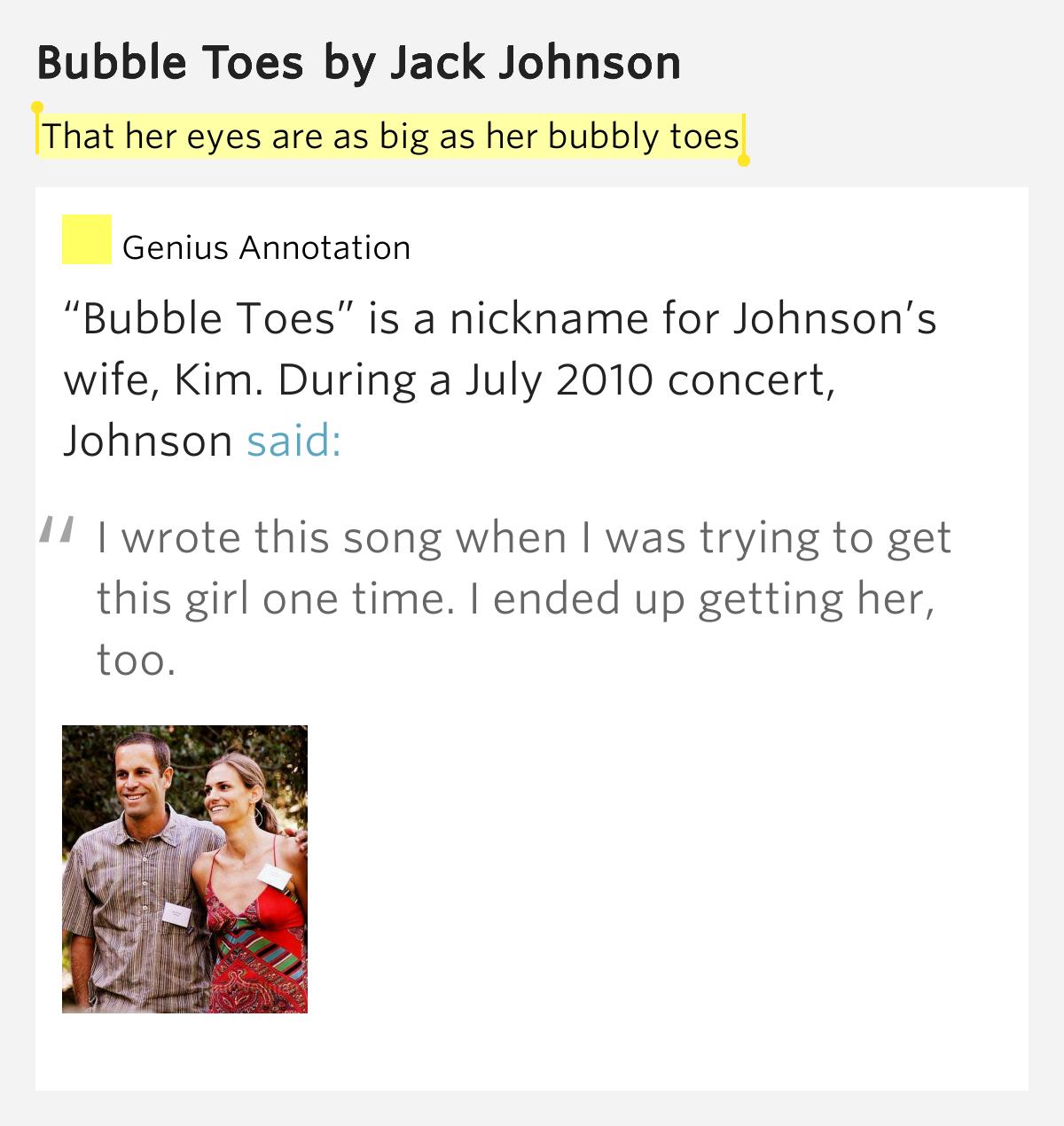 Songtext von Jack Johnson - Bubble Toes Lyrics