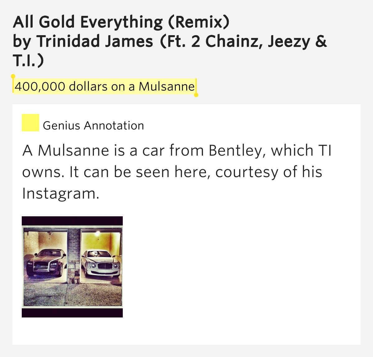 All Gold Everything Remix Lyrics