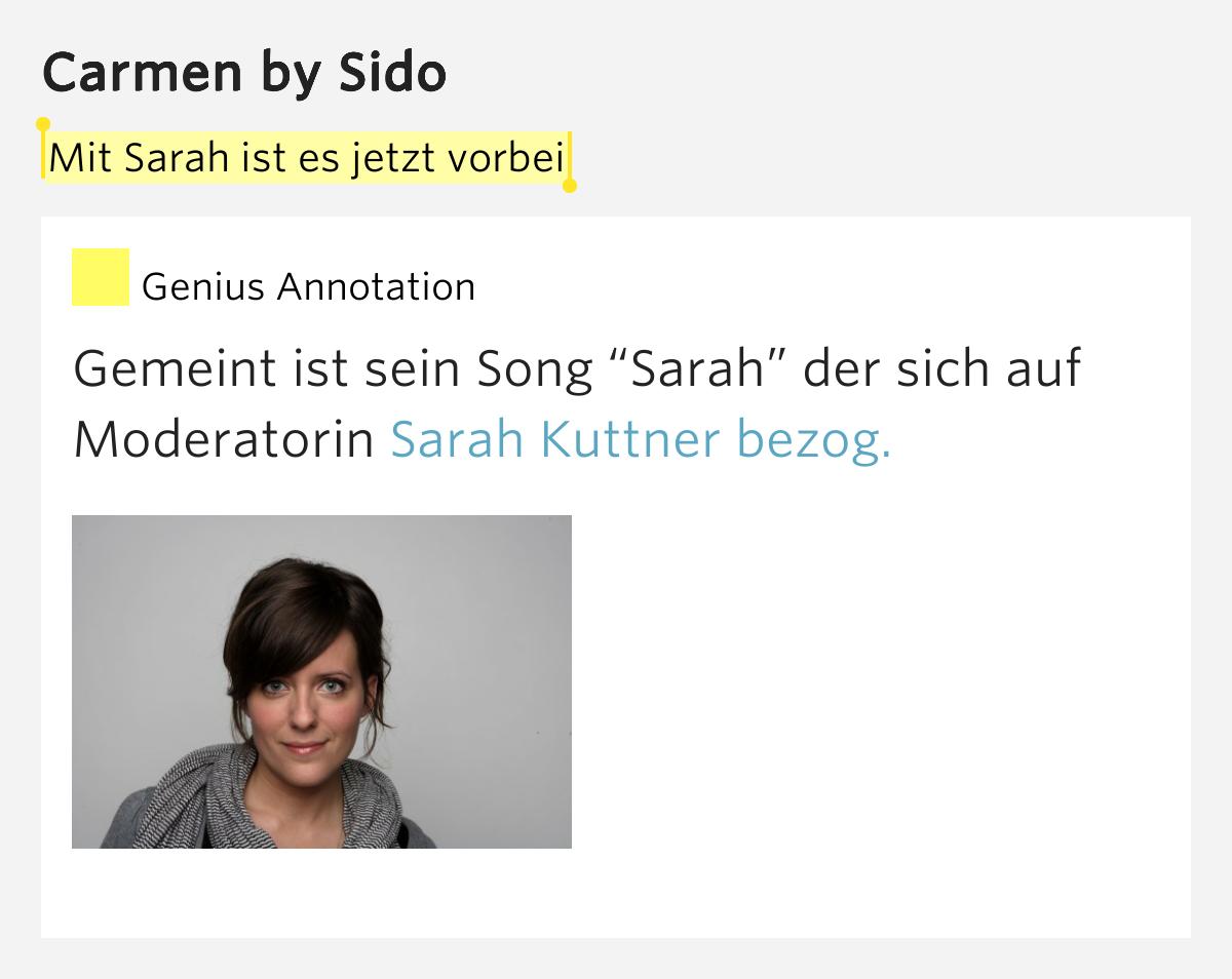 Sido – Carmen Lyrics | Genius Lyrics