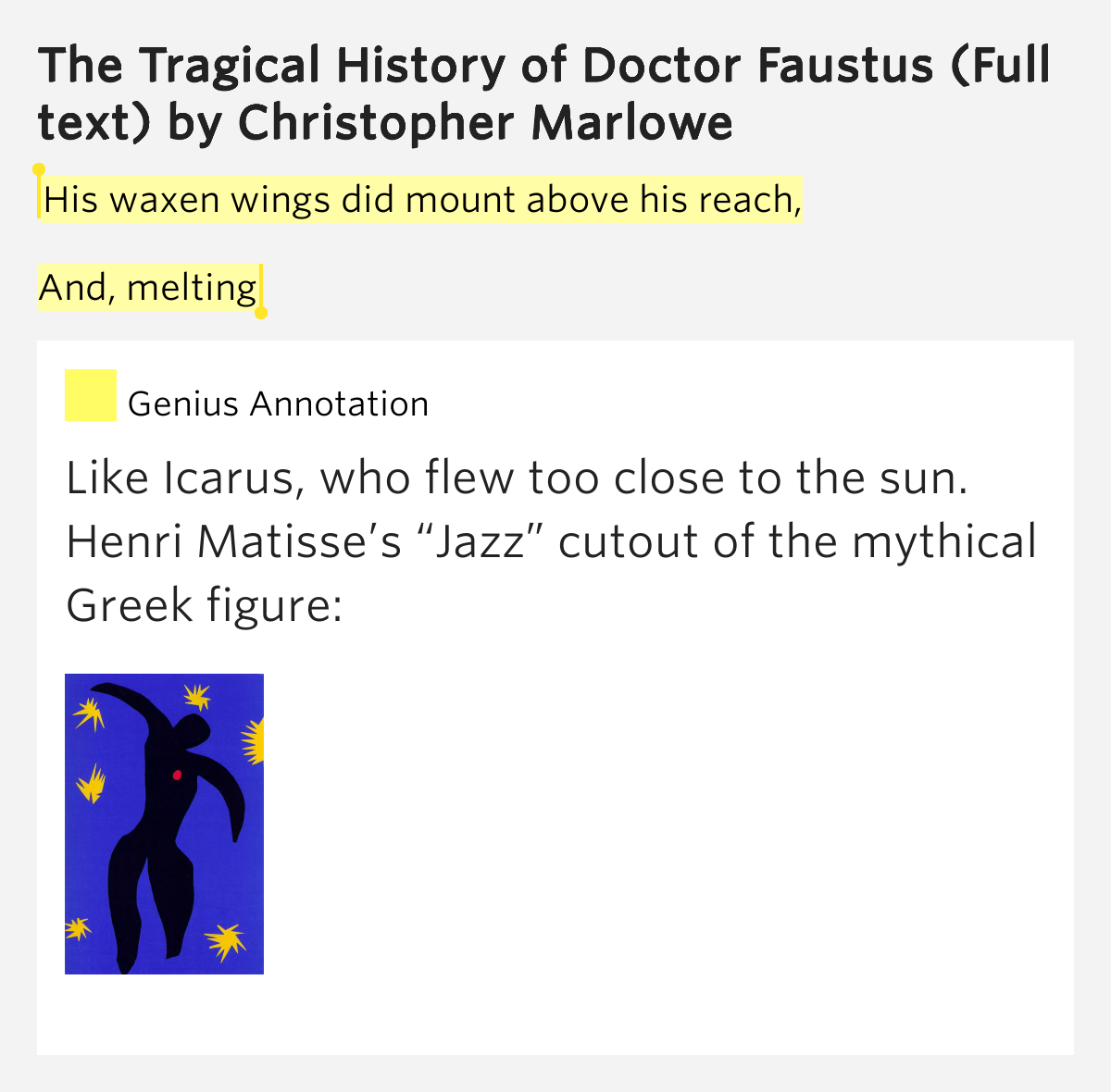 the tragical history of d faustus essay