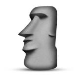 Easter Island Rock Emoji