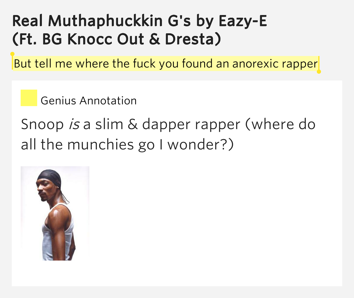 Touching words Easy-e i rather fuck with you