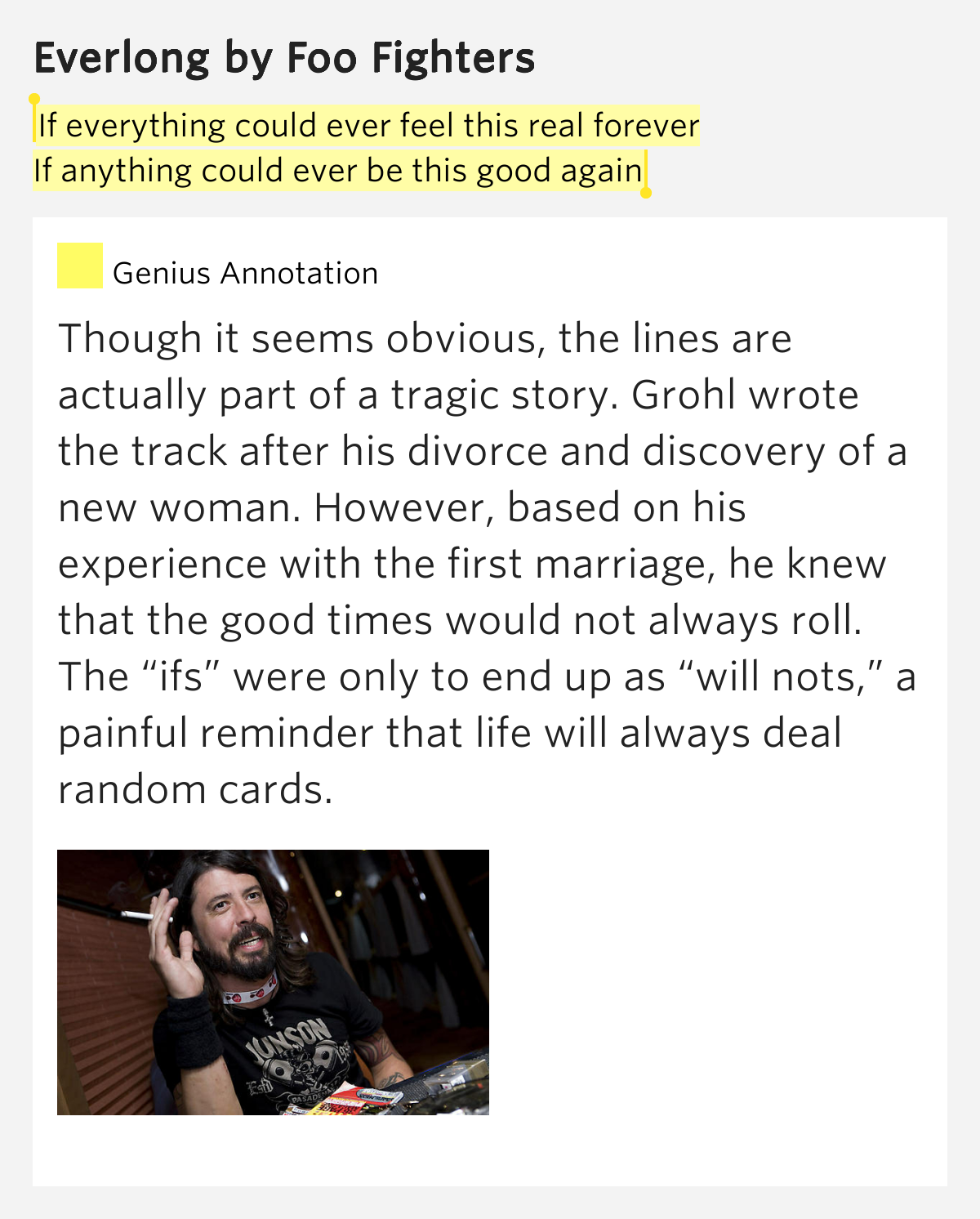 Everlong by Foo Fighters - Songfacts