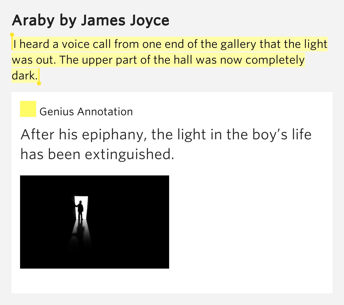 imagery in james joyce araby James joyce, symbolism in story araby free essays, james joyce, symbolism in story araby papers most popular james joyce, symbolism in story araby essays and.