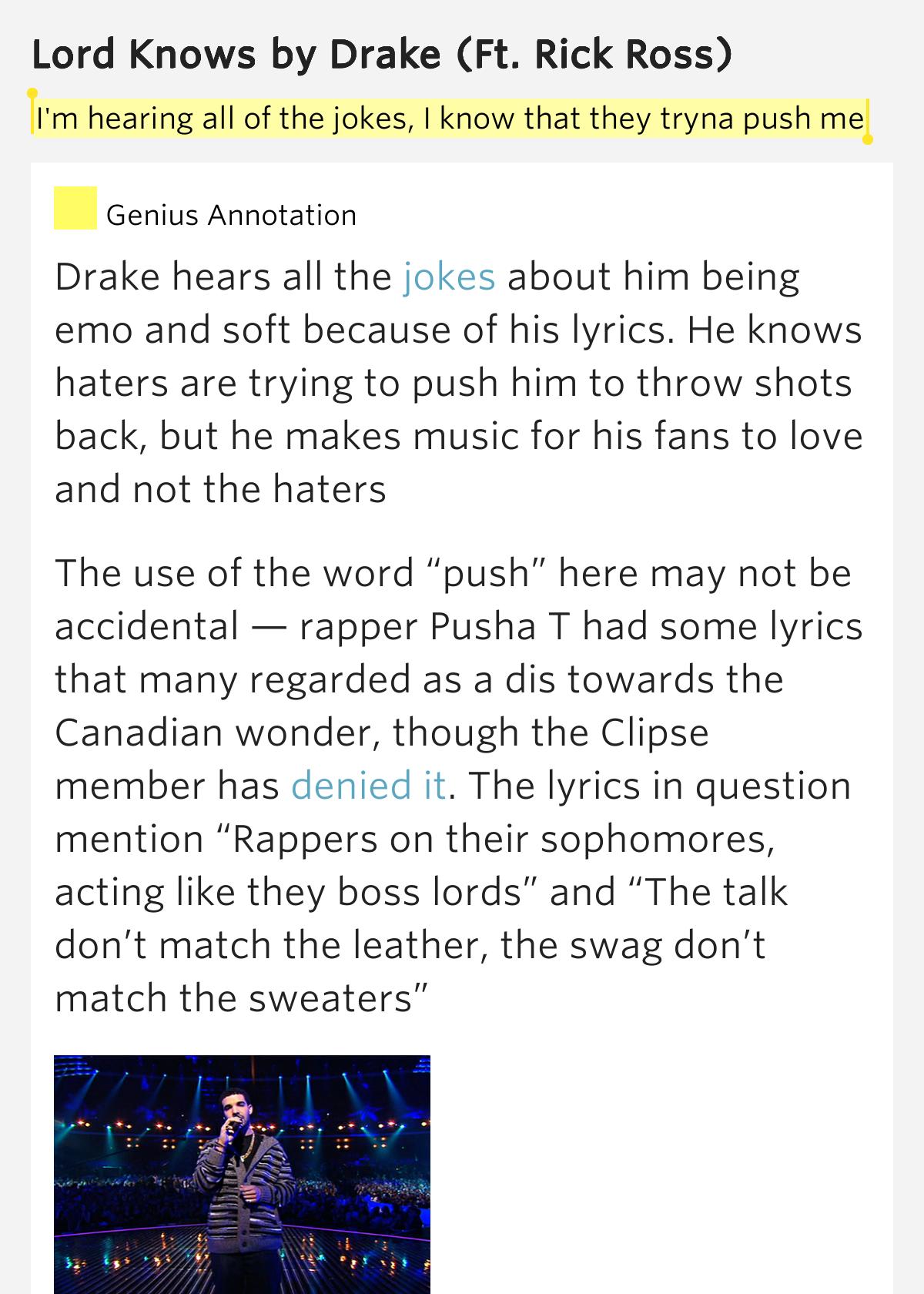 Drake ft. Rick Ross - Lord Knows (Lyrics On Screen ...