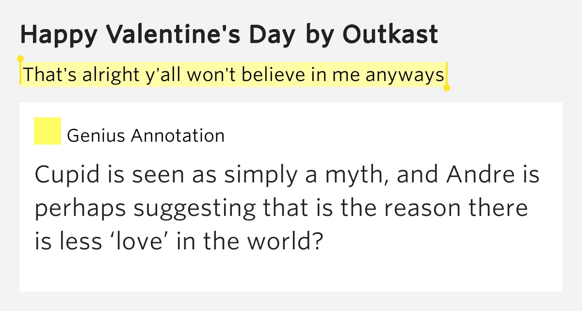 Outkast Happy Valentines Day